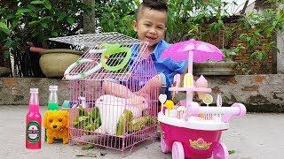 Trò Chơi Bán Kem Slime Cho Bạn Thỏ ❤ ChiChi ToysReview TV ❤ Đồ Chơi Trẻ Em Kids Song