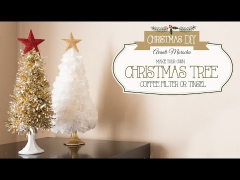 DIY Christmas Tree ( Coffee Filter - Tinsel) Arbol Navideño