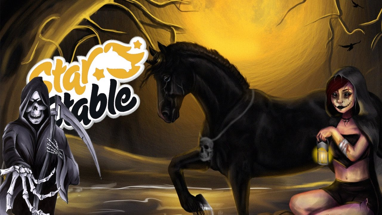 Fall Wallpaper For Tablet Star Stable Halloween Speedpaint Youtube