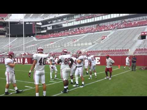 Alabama tight end drills