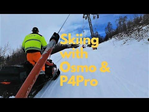 Skiing with Osmo & P4Pro   Travel Film Haukeli, Norway Drone Video