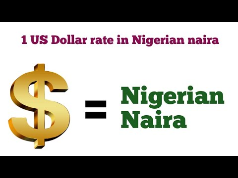 US Dollar To Nigerian Naira Exchange Rate | United States Dollar Rate In Nigerian Naira