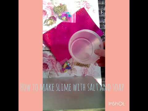 How to make slime with salt and washing up liquid