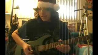White Christmas Metal Hard Rock Electric Guitar!!