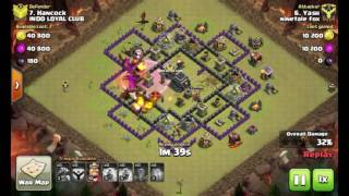 Th 8 taking th 8.5 l Clash of clans with ntf 😸