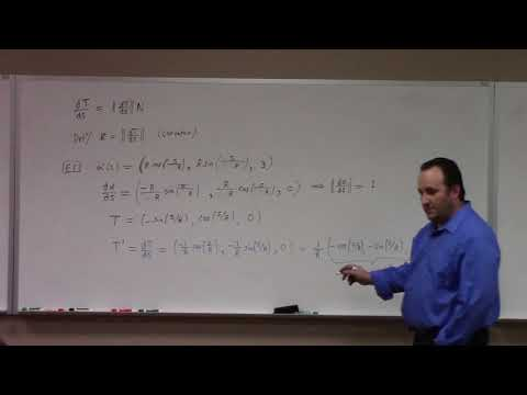 Advanced Calculus: on Frenet frame for curves, 12-11-17 part 1