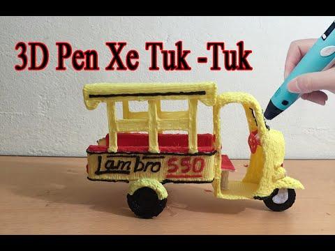 Vẽ mô hình xe lam 3 bánh – Túc túc bằng bút 3D Pen [DucArt] – Draw a model of a tuk tuk