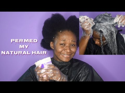 I'M OVER IT! I PERMED MY NATURAL HAIR (Relaxing My Natural Hair After 3 years)