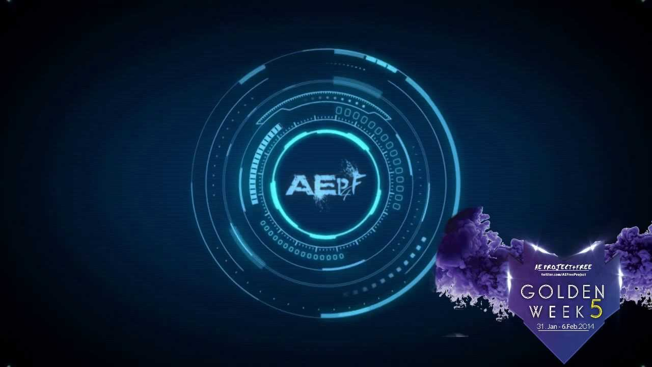 After Effects Intro Futuristic Logo Gw 5 Youtube