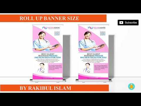 How To Create A Roll-up Banner In Illustrator Online | Roll Up Banner Measurement 2020