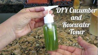 DIY Cucumber and Rosewater Toner