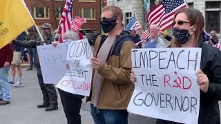 People protest Gov. Cuomo's coronavirus shutdown in New York State
