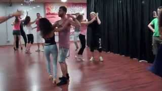 How to zouk lambada dance lesson Intermediate steps tutorial