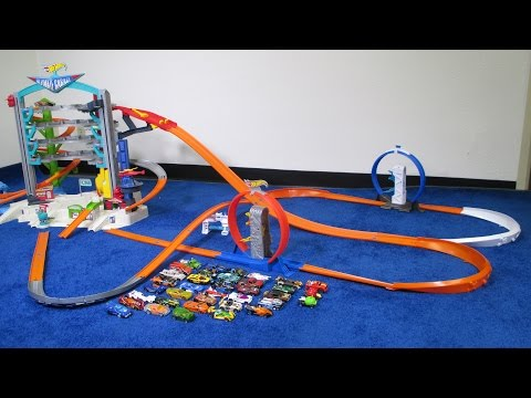 Track Testing 36 Hot Wheels Cars on the Ultimate Garage Track Layout