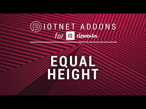 Equal Height | Piotnet Addons for Elementor (PAFE) - YouTube