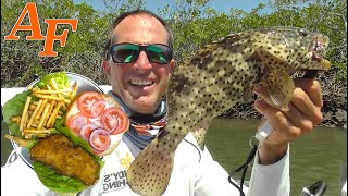 Catch and Cook a Cod Fish Burger w Tackle Club Challenge EP.461