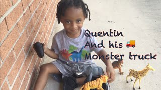 Quentin And His Monster Truck | Toy Animals | Bubbles