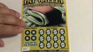 $5 Fat Wallet + Bonus Tickets Instant Scratch off Lottery Tickets PA