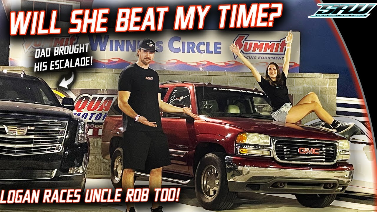 I Let My Sister and My Girlfriend Race 600HP Turbo Yukon XL: They've Never Done It Before!