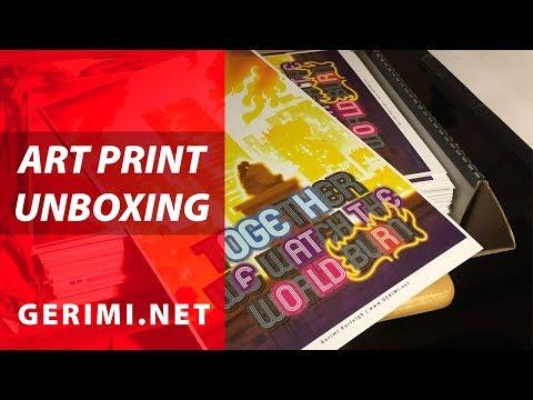Art Print Unboxing