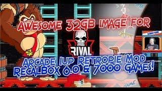 Arcade 1UP Retropie Best 32GB RecalBox Arcade Image Review & Arcade 1up Mod