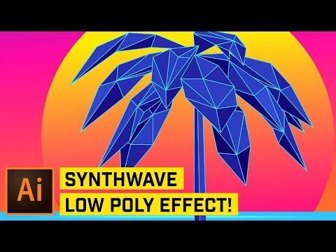 Retro Low Poly Effect Illustrator CC 2018 Tutorial