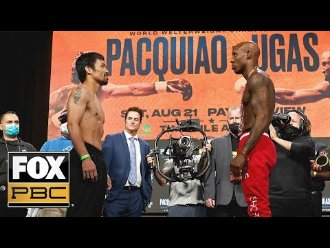 Manny Pacquiao vs Yordenis Ugás | WEIGH-IN | PBC ON FOX