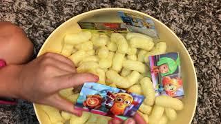 Кукурузные палочки Фиксики с магнитами на холодильник внутри