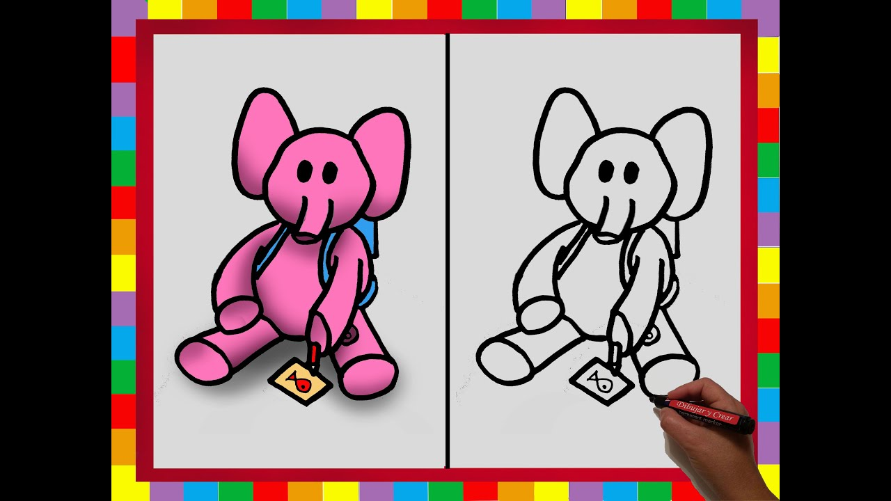 how to draw ellie from pocoyo