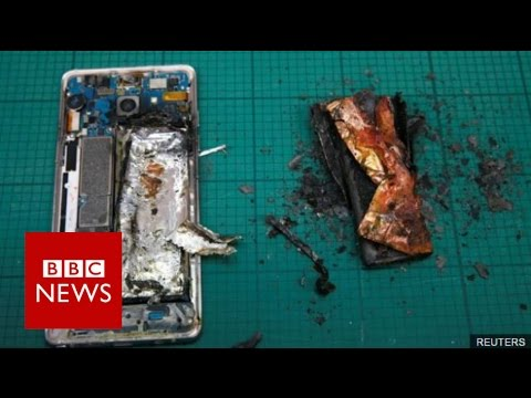 Thumbnail: Samsung permanently stops Galaxy Note 7 production - BBC News