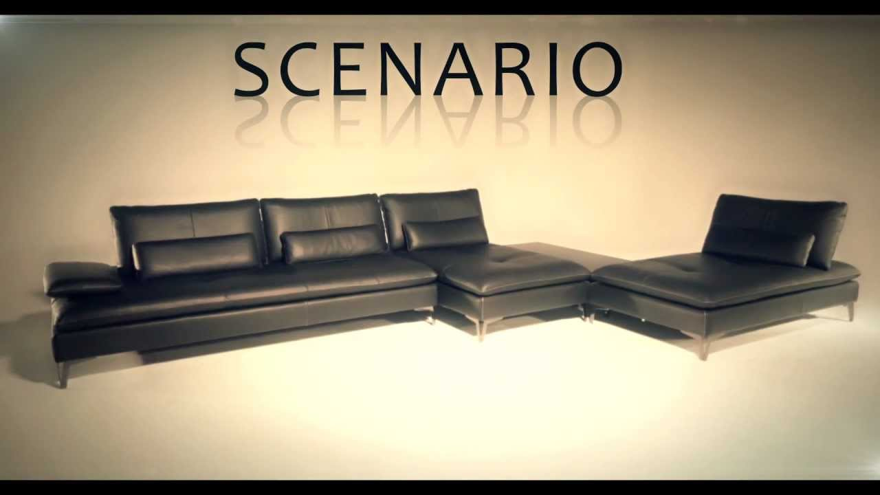 Roche bobois canap d 39 angle composable scenario youtube for Canape angle cuir taupe