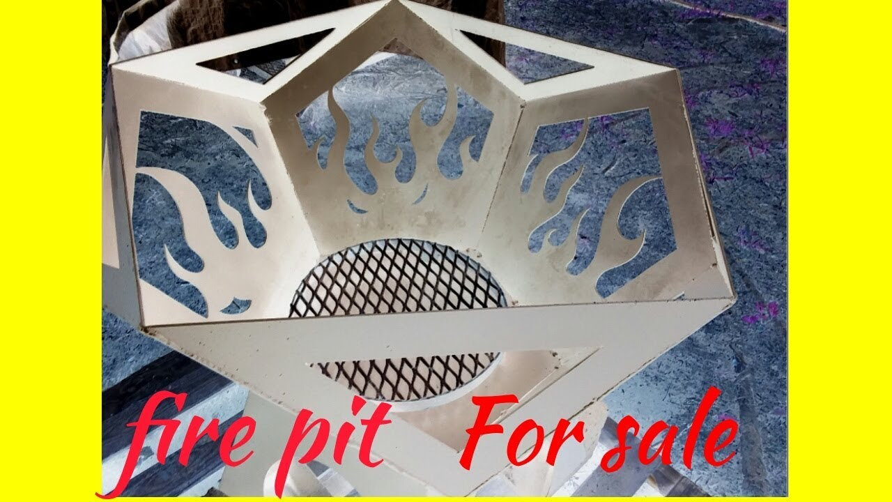 Flame fire pit build..for sale - YouTube