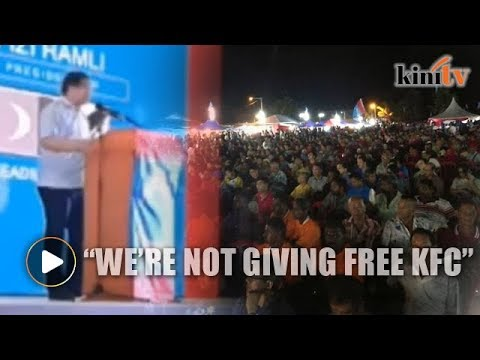 Rafizi: Why are so many of you here, you're not getting free KFC