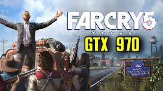 Far Cry 5 GTX 970 OC | 1080p Ultra Settings | FRAME-RATE TEST