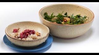 Пряный рис с индейкой и зелёный салат с грушей | Дежурный по кухне