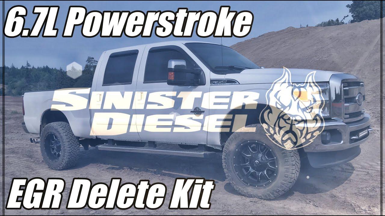6 7L Powerstroke Sinister EGR Delete Install HD 1080p