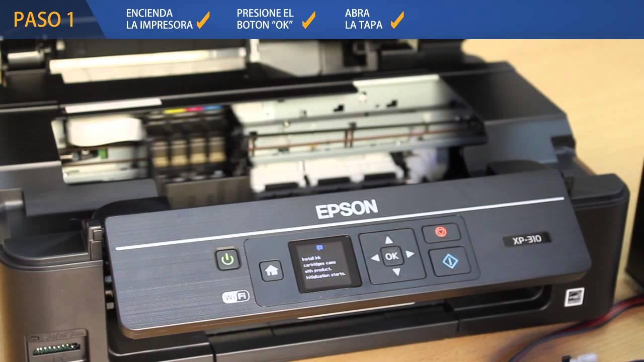 Instalacion Sistema Continuo De Tinta Epson Xp 310 Youtube