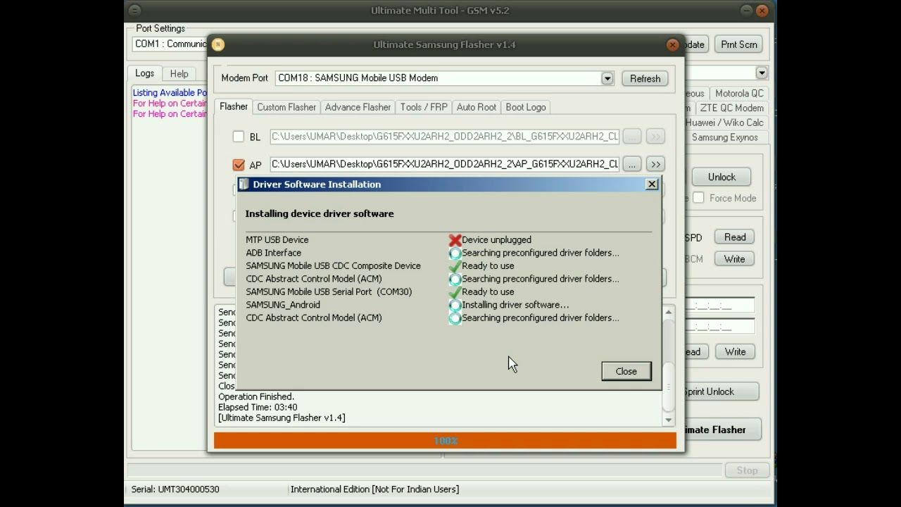 Samsung J7 Max G615F U2 FRP done Via Combination Method by UMT Tool