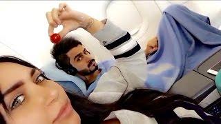 شاهد حركات الدكتوره خلود مع زوجها امين وهو نايم بالطيارة !!