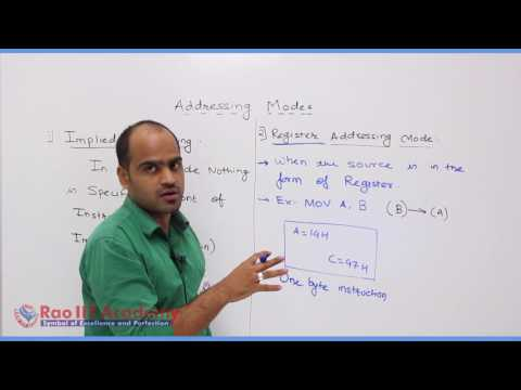 Instruction Set & Programming 8085 Part-1 Computer Science Board video lecture By Rao IIT Academy