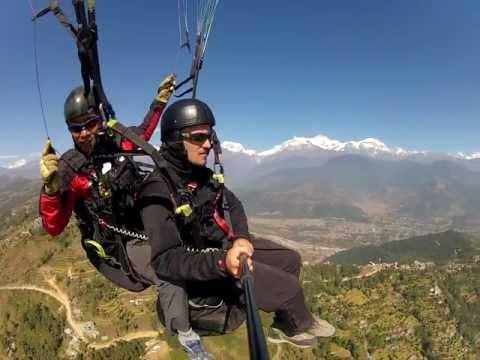Paragliding in Pokhara, Nepal (GoPro)