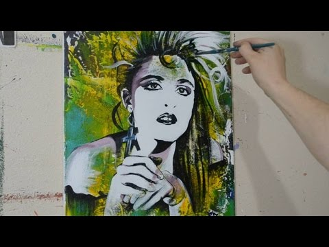 Painting a Portrait of Madonna