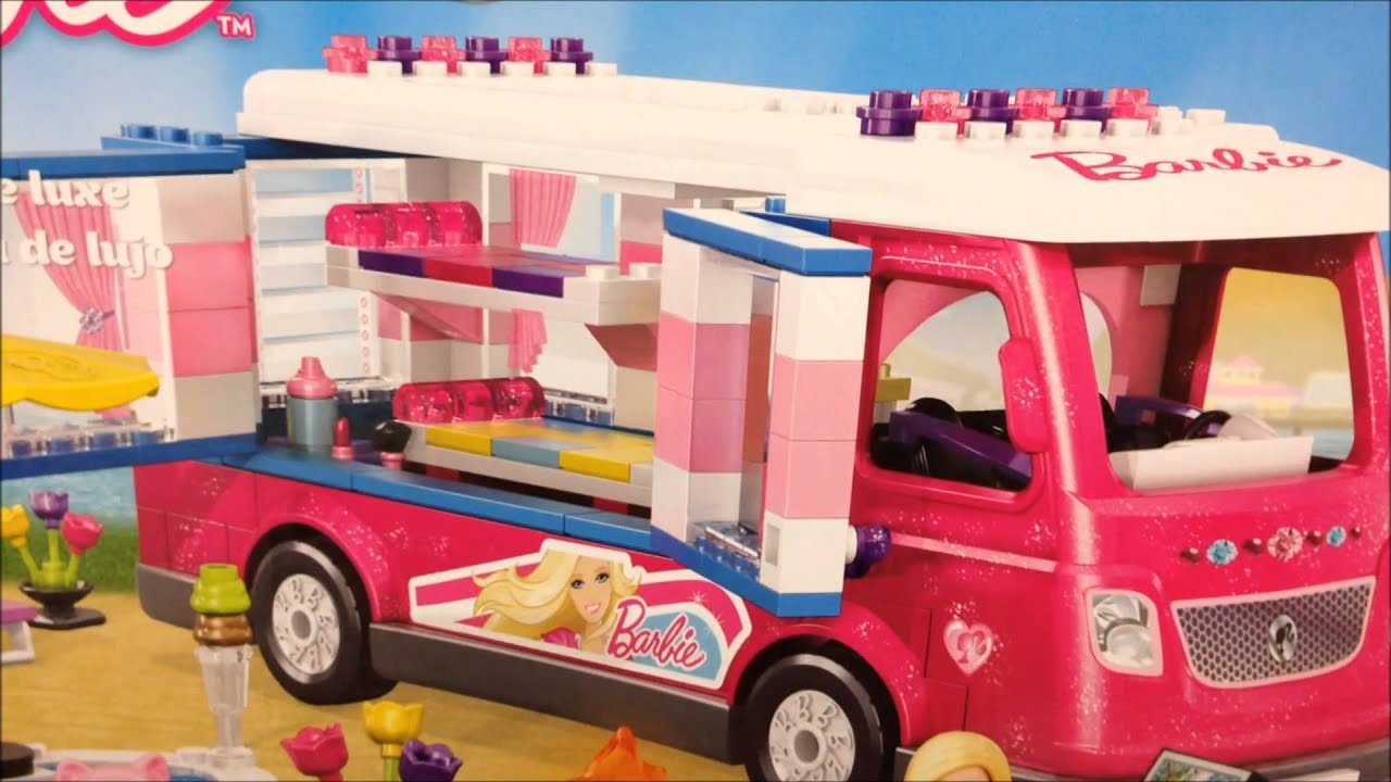 Mega Bloks Build And Play Barbie Luxuary Camper Van Toy 80293 Usa View
