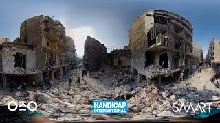 Plongez à 360° dans le quotidien des victimes de bombardements