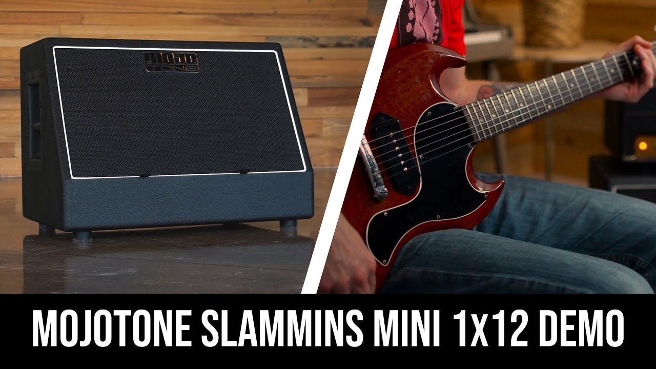 Mojotone Slammins Mini 1X12 Extension Cab- Loaded With Celestion  Creambacks- Product Overview