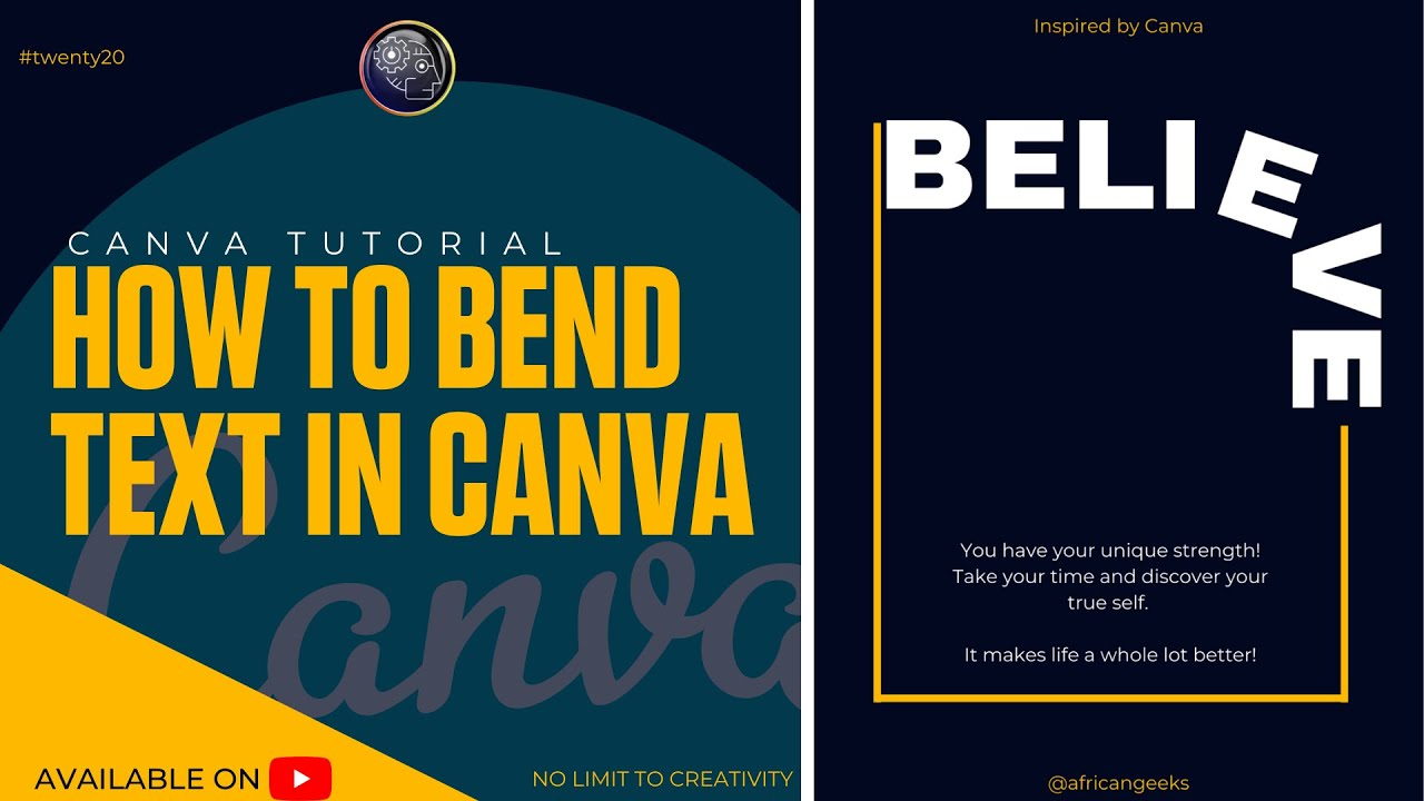 Canva Tutorial for beginners - How to Bend Text in Canva