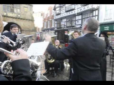 Shrewsbury Brass Band plays Christmas carols