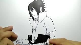 Coretan gambar sasuke uchiha (how to draw sasuke uchiha)
