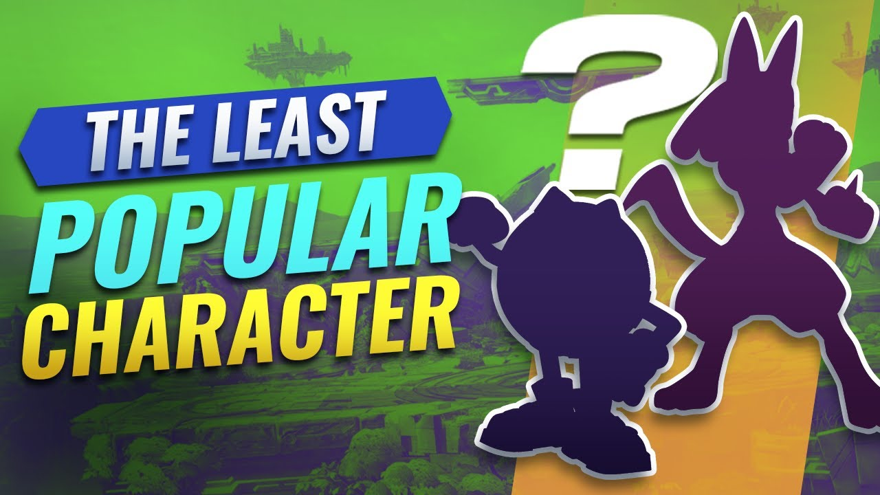 The LEAST POPULAR Characters in Smash Bros thumbnail