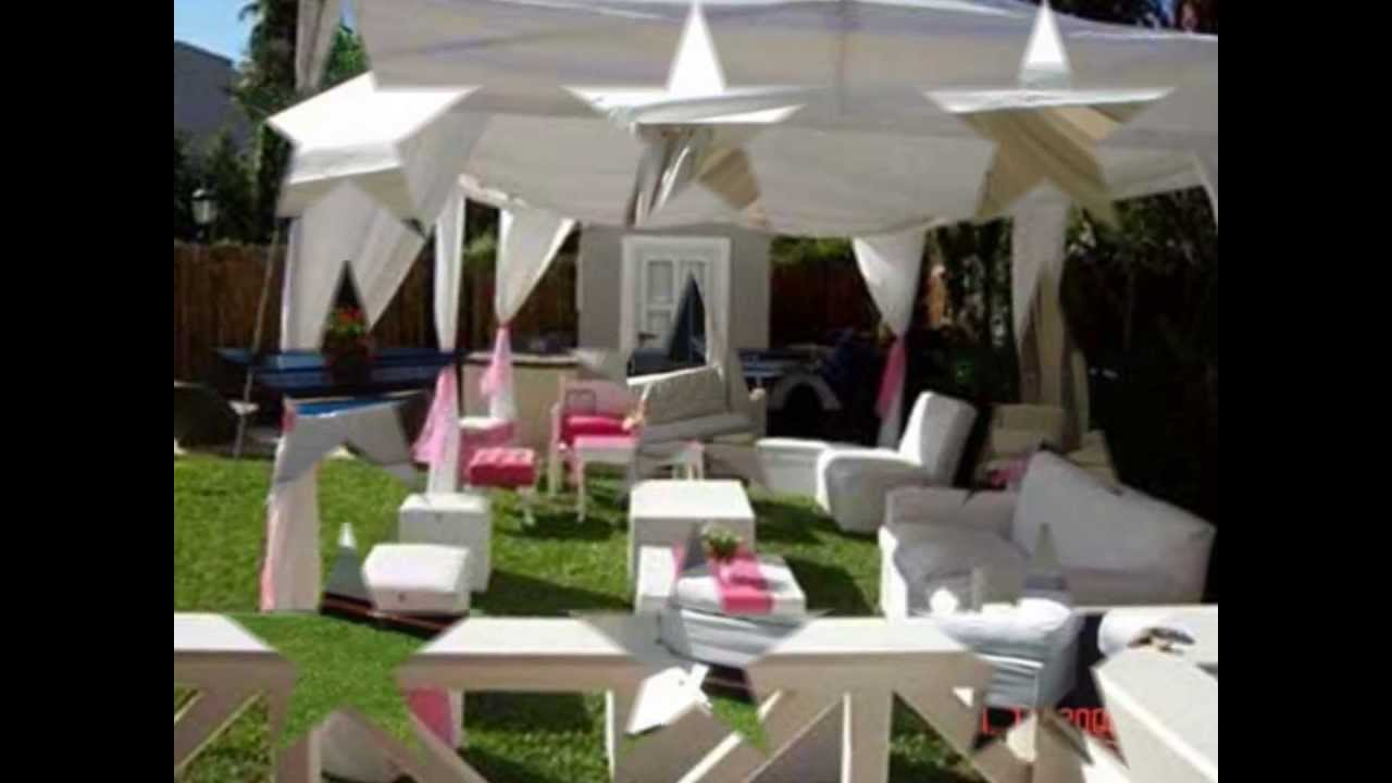 Carpas para fiestas de 15 a os youtube for Decoracion de jardines para fiestas
